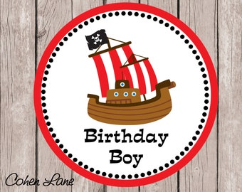 Instant Download Printable Birthday Boy Pirate Tshirt Transfer Design. Pirate Iron On Transfer.  Birthday Day Boy Iron on Transfer.