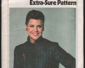 Simplicity 9305 UNCUT Misses Quilted Jacket sewing pattern ID 620