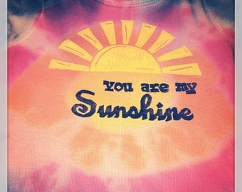Sunshine onesie, you are my sunshine, sun onesie