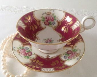 Hand Painted Radfords Fenton China Tea Cup and Saucer Teacup Set