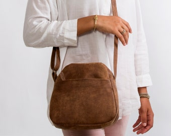 Sale!!! Small leather crossbody bag Brown leather crossbody bag Small Messenger cross body leather bag leather purse leather crossbody purs