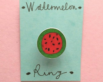 Illustrated watermelon ring