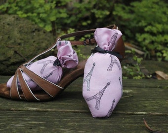 Pink Glitter Eiffel Tower Shoe Sachets.