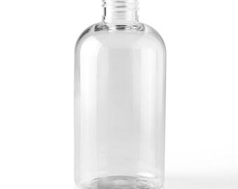 8oz Clear Plastic Bottle White Tops