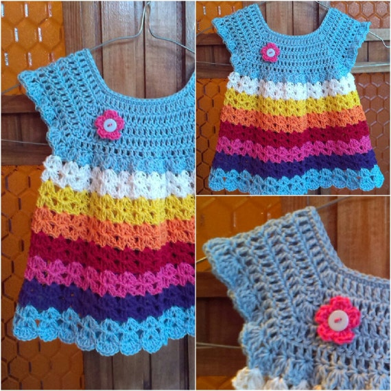 Crochet baby dress or tunic pattern