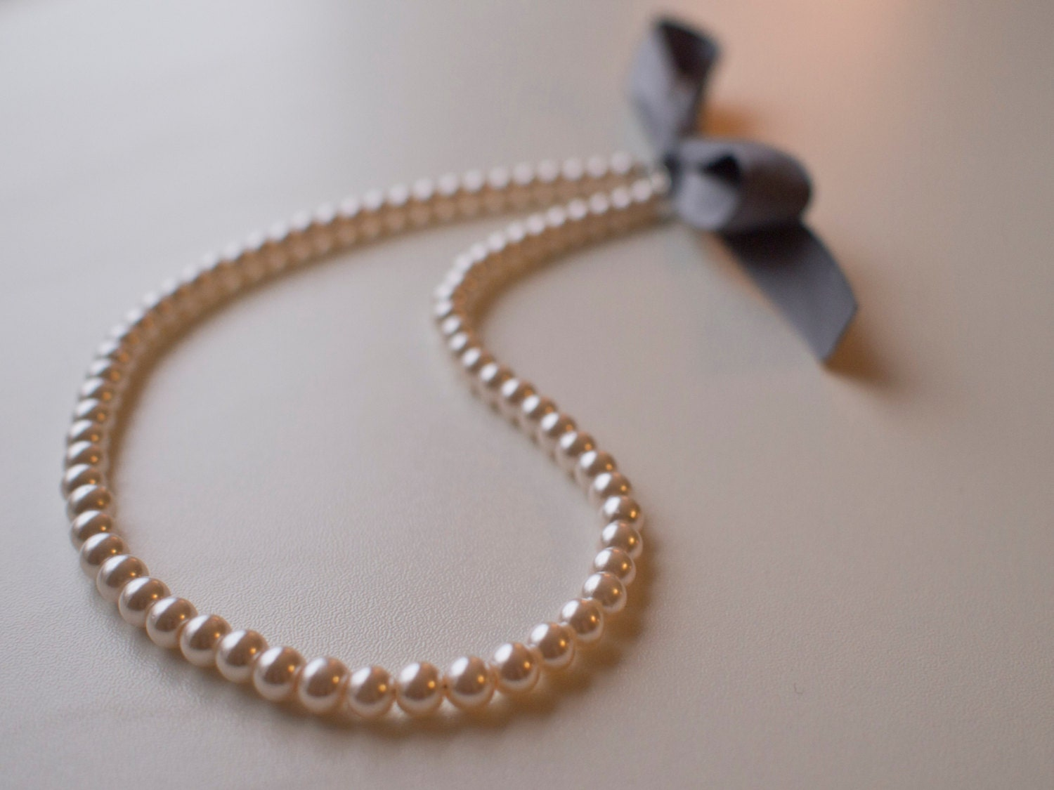 Georgian style ribbon tie pink pearl necklace for regency for Ribbon tie necklace jewelry