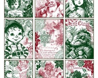 Christmas ATC cards. Digital download