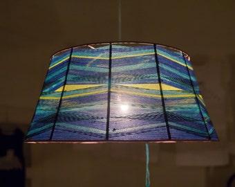 Geometric lighting hanging chandelier made by waving