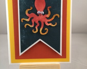 Octopus miss you card