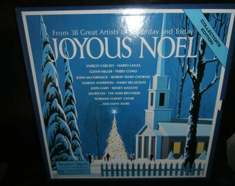 Vintage Christmas carols Reader's Digest Christmas Joyous Noel Collection Edition Set of 4 Albums in great condition