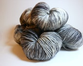 "Ville: ""Space Needle"" Hand Dyed Worsted Superwash Merino Yarn"