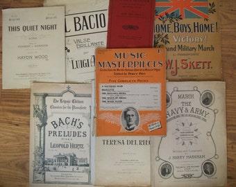 Vintage Sheet Music Note
