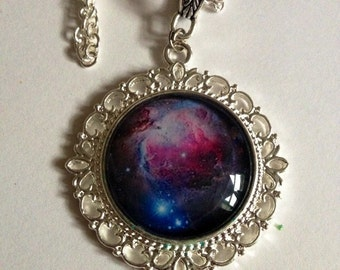 Galaxy Pendant, Cosmos Nebula Necklace, Cosmic Jewelry