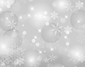 Photography Backdrop - Bokeh Snowflakes and Circles - Silver or Blue -5ft x 5ft+ Bokeh snowflake printed backdrop - Christmas photo backdrop
