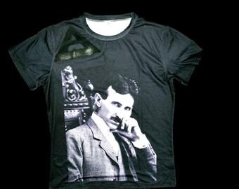 Nikola Tesla Shirt by LIONSINTHEZOO