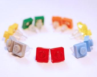 LEGO® stud square earrings - jewelry