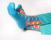 FREE SHIP Colorful eye-catching socks for men / christmas gift for him / mens socks/ fun socks/ happy socks/groomsmen gift