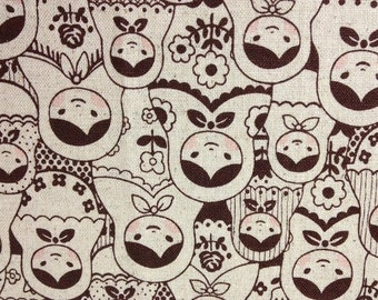 Fat Quarter of Rosy Cheeks Russian Doll Matryoshka fabric by Cosmo Textile, Made in Japan