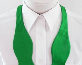 Mens Bowtie Kelly Green Self Tie Mans Bow Tie