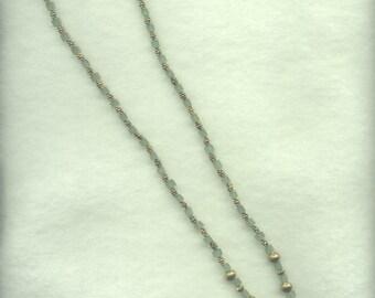 Eyeglass leash with aventurine 4x4 cube beads