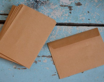 "60 Brown Manila Envelopes - 6.375"" x 4.5"""