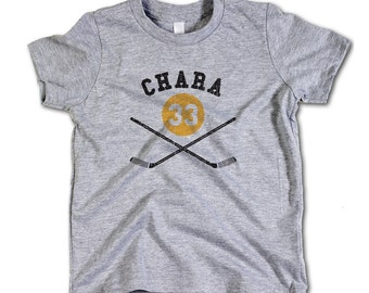 Zdeno Chára NHLPA Officially Licensed Boston Toddler and Youth T-Shirts 2-12 Years Zdeno Chára Sticks Y