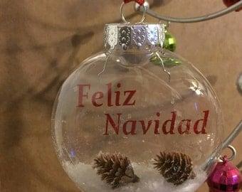 Feliz Navidad- floating  ornament