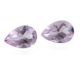 Pink Amethyst Pear Cut Set of 2 Loose Gemstones 1A Quality 6x4mm TGW 0.70 cts.