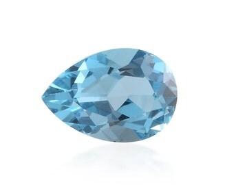 Blue Topaz Loose Gemstone Pear Cut 1A Quality 10x7mm TGW 2.05 cts.