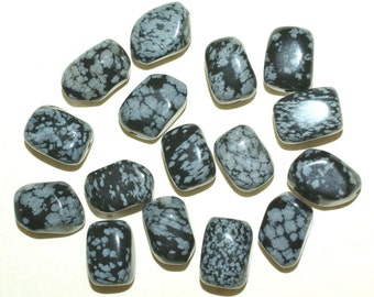 Snow Flake Obsidian Beads Nugget Shape 11x15mm - Loose Beads