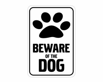 "Beware of Dog Aluminum Sign Heavy Gauge No Rust 12"" x 18"" Colors Available"