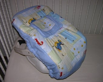 New Infant Seat Carrier Cover m/w Winnie the Pooh Fabric