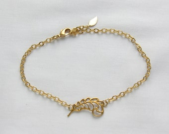 Gold Anklet, Feather Anklet,Trending Jewelry for Her