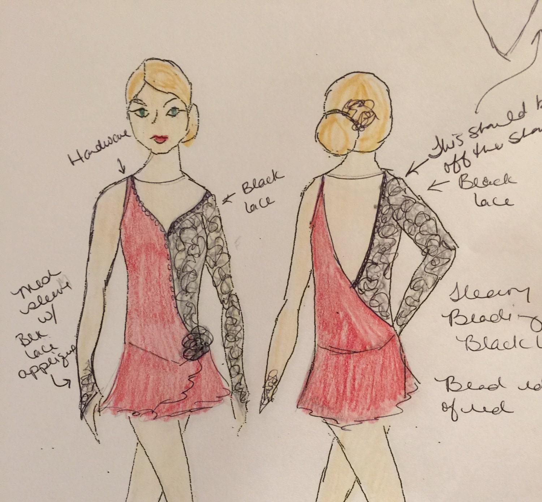 comp tition de patinage artistique robe tango espagnol. Black Bedroom Furniture Sets. Home Design Ideas