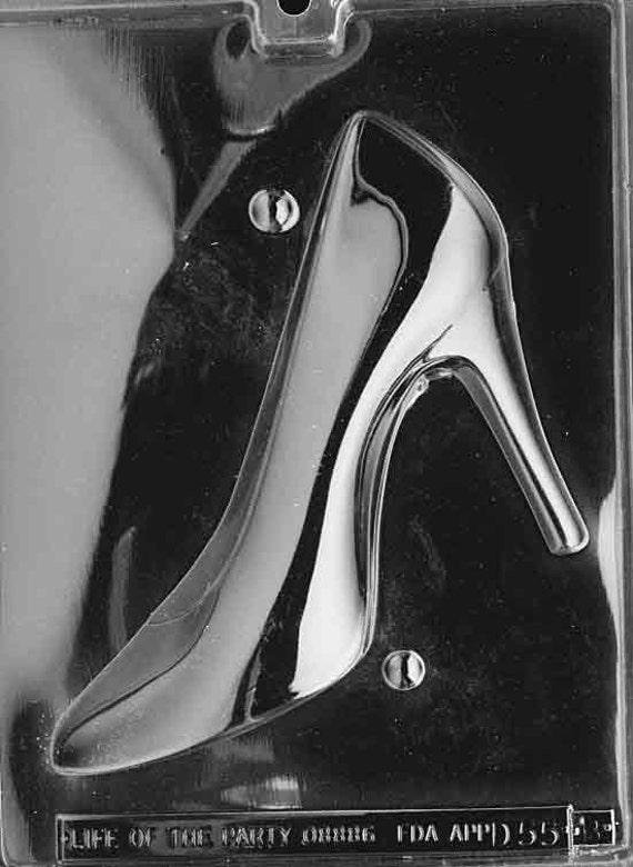 lopd 055b high heel shoe chocolate mold left side of 3d
