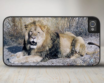 "Lion iPhone 5 Case, Lion iPhone 5s Case, Lion iPhone Case Protective Phone Case ""Kalahari Lion"" 50-3105"