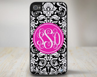 Damask Monogram Case Damask Monogram iPhone 6 Case, Monogrammed iPhone 5 protective Case, damask iPhone 5c Case Protective Phone Case 50-662