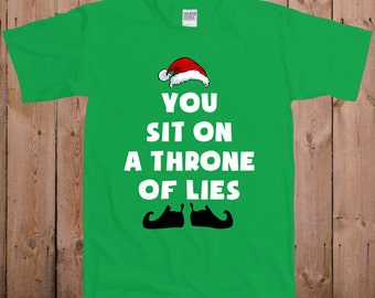 Elf T Shirt Christmas shirt Lil Elf movie Tshirt Santa Claus