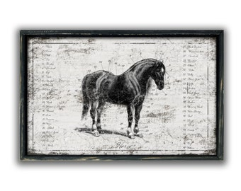 Handmade wooden horse sign framed horse signs horse lover's gifts horse plaques Vintage horse signs equestrian decor equestrian signs