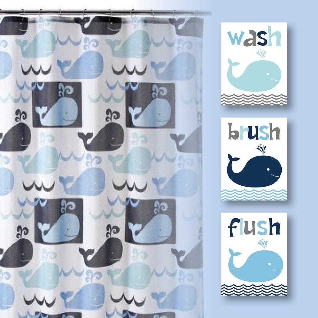 Https Www Etsy Com Listing 203762281 Boy Bathroom Art Print Whale Watch Happy