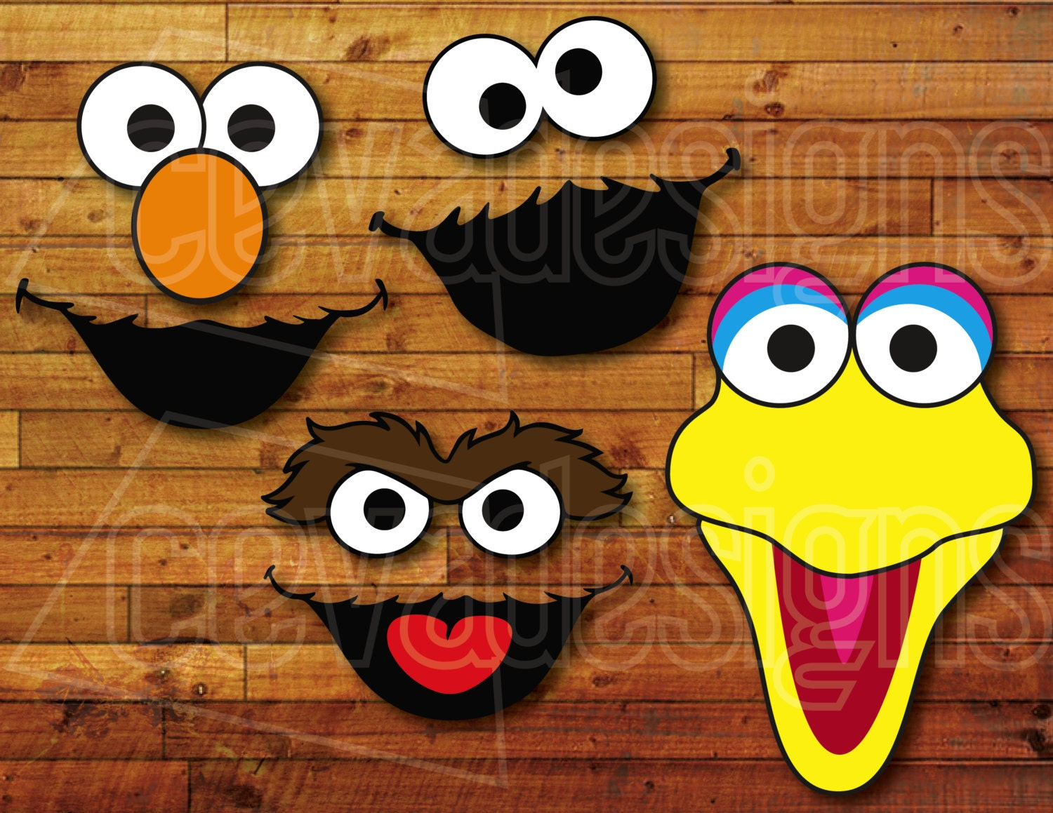 Sesame street birthday party decoration 4 printable diy cutout zoom pronofoot35fo Image collections