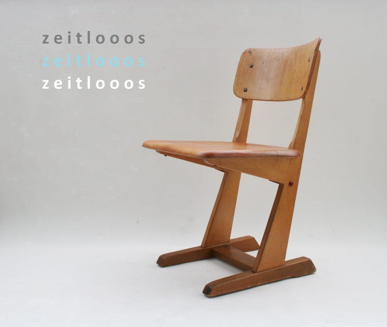 Holzstuhl schule 60er jahre stuhl for Stuhl design schule