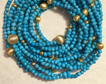 Beautiful genuine turquoise long necklace / bracelet
