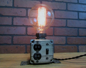 Industrial Table Desk Lamp Charging Station Cell Phone