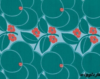 HAPI - HEART BLOOM  in Pine by Amy Butler for Free Spirit Fabrics 4018