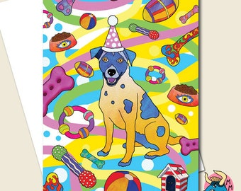 Dog Birthday Card. Dog Card. Jack Russell Card. Dog Greeting Card. Card For Dogs. Card For Dog Lovers. Card For Pets. Bday Cards. Pet Card.