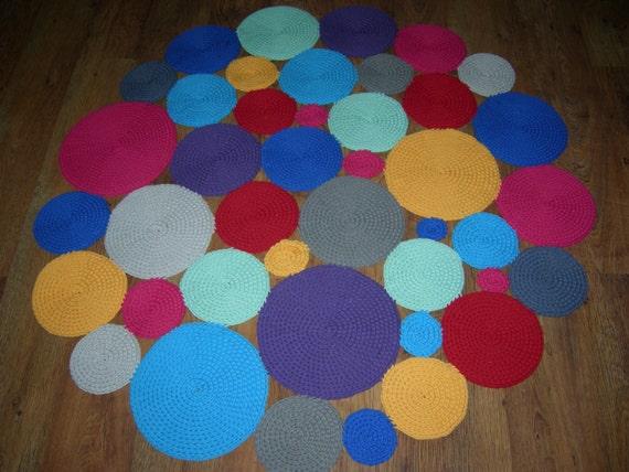 Uncinetto rotonda tappeto 55  140 cm / uncinetto