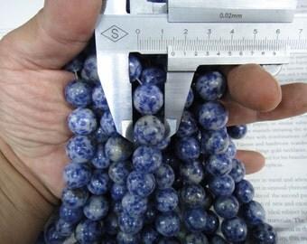 "14mm sodalite round beads, 16"" strand long"