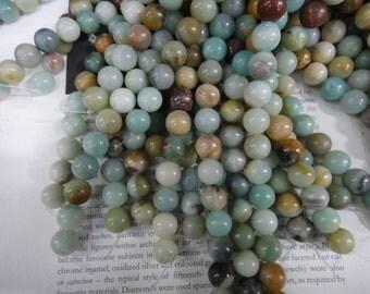12mm natural amazonite round beads, 15.5 inch