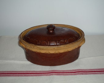 Antique French Terrine / glazed terracotta / Pate Dish Pate de Foie Gras. Kitchen ...It is the same a little bigger